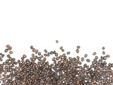 Coffee beans on isolated white background. - 232203898