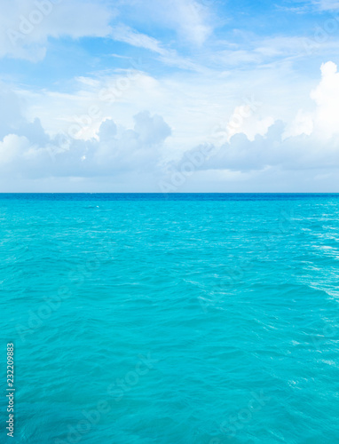 Beautiful scenery with calm sea and cloudy sky