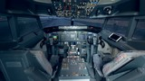 Empty plane cabin with equipment, close up. - 232215294