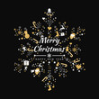 Merry Christmas background with element snowflakes icons banner. Vector illustration - 232218079