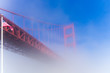 Fog view at Golden Gate Bridge