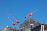 Construction site on blue sky background - 232228027