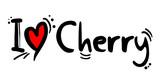 Cherry fruit love message