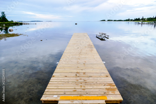 pier on the lake, in Sweden Scandinavia North Europe