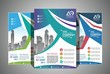 Business vector set. Brochure template layout, cover design annual report, flyer in A4 with colourful geometric shapes for PR, business, tech on bright background. Abstract creative design. - 232243856