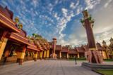 Wat Bang Thong(Wat Mahathat Wachiramongkol), a beautifully sculptured temple in good design, popular tourists worship and worship, located in Tambon Na Nuea, Amphoe Ao Luek, Krabi. - 232243857