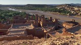 Gimbal shot of Ksar of Ait-Ben-Haddou, an ancient fortified village in Morocco. 4K, UHD - 232247403