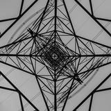 A Symmetrical View From Below An Electricity Pylon - 232248466