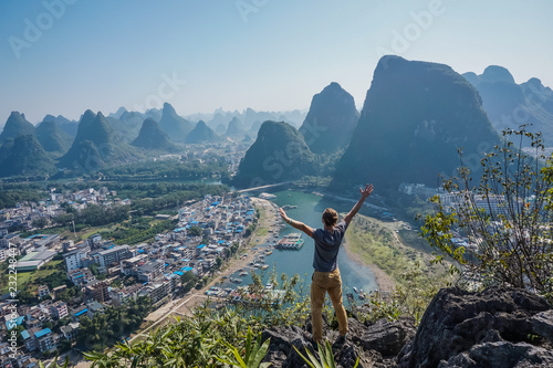 Foto Murales Freedom in the mountains Yangshuo