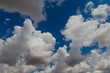 Clouds and blue sky in summer .