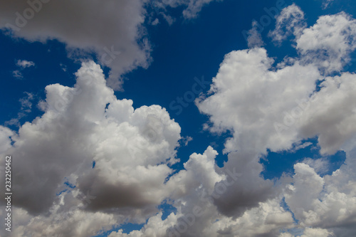 Clouds and blue sky in summer . - 232250462