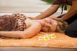 Leinwandbild Motiv Woman enjoying full body massage