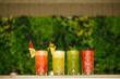 Tropical fresh drinks