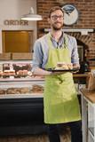 Barista Serving Coffee and Scones - 232267695