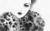beautiful woman. fashion illustration. watercolor painting - 232269406