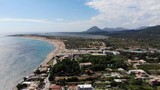 Aerial footage taken at the beautiful beach of St George South in Greece - 232272279