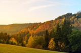 einsame Hütte auf einem Hügel im Herbst - 232277243
