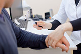 the neurologist checks the elbow - 232280000