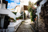 ancient village of the Ligurian hinterland, narrow streets and colored walls - 232285466