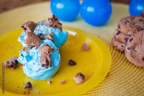 Wall mural Cookies Monster Blue Ice Cream