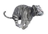 3D Rendering White Tiger on White - 232290805