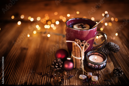 Christmas still life with tea - 232290806