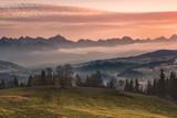 Autumn view of Tatra Mountains