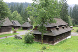 Traditional Slovakian wooden houses - 232305267