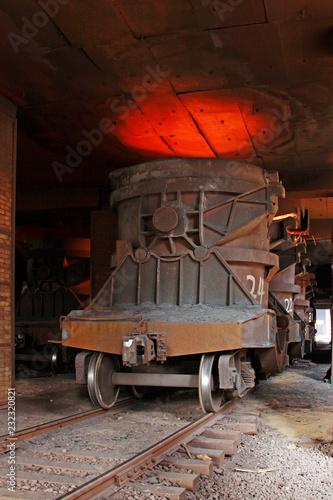 Transportation molten iron crucible train, China - 232320821