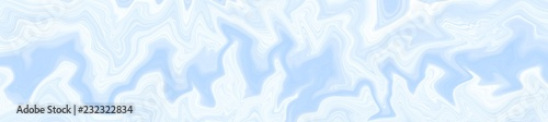 Blue background with illustration of waves and lines with a gradient of pastel colors. The texture of the marble panoramic size for various purposes. © Nadezhda Pakhomоva