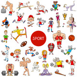 cartoon people and sports large set - 232333873