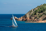 Sailing to Rondinara harbour in a strong wind - 232334635