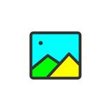 Gallery vector icon - 232345655