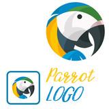 parrot logo vector fun art illustration - 232345809