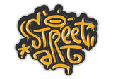 Street Art Related Tag Graffiti Influenced Label Sign Logo  Lettering for t-shirt or sticker on a white background. Vector Image. - 232348698