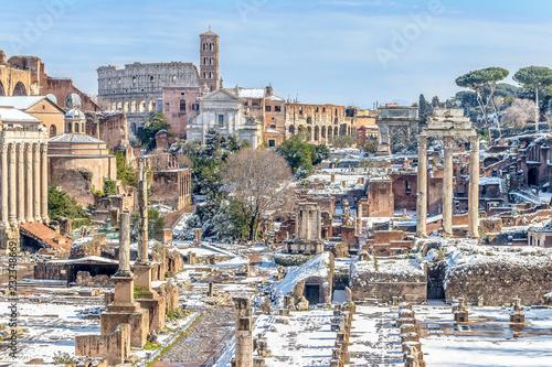 Forum Romanum pod śniegiem