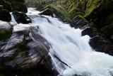 Long exposure of a waterfall at Watersmeet in Exmoor national park