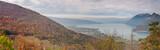 Panorama du lac d'Annecy depuis le Taillefer en automne