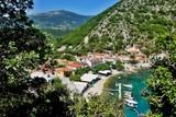 Greece, the island of Ithaki - a view of the harbor in Frikes - 232356213