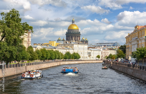 St. Isaac's Cathedral and Moyka river , Saint Petersburg, Russia