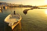 Naoussa village and harbor at sunset - Aegean Sea - Paros Cyclades island - Greece - 232380074
