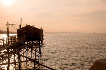 pier on stilts for fishermen © Oksy001