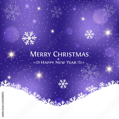 festive christmas purple background merry christmas and happy new year card