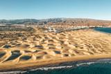 Aerial Maspalomas dunes view on Gran Canaria island near famous RIU hotel. - 232393200
