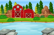 A nature farmland landscape