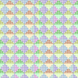 Bright background abstract with triangle geometric seamless pattern. Colorful pastel soft colors vector illustration for fashion wrapping and textile print.