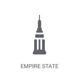 Empire state icon. Trendy Empire state logo concept on white background from United States of America collection - 232402631