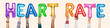 Leinwanddruck Bild - Hands showing heart rate balloons word