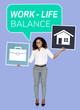 Leinwanddruck Bild - Businesswoman looking for a work life balance