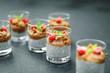 Leinwanddruck Bild - Homemade chia pudding vegan recipe